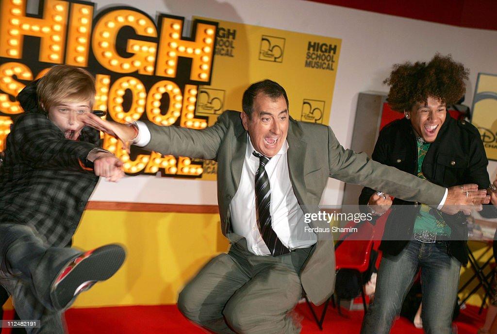 Lucas Grabeel Kenny Ortega director and Corbin Bleu