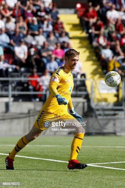 Lucas HaggJohansson goalkeeper of Kalmar FF during the Allsvenskan match between Ostersunds FK and Kalmar FF at Jamtkraft Arena on May 20 2017 in...