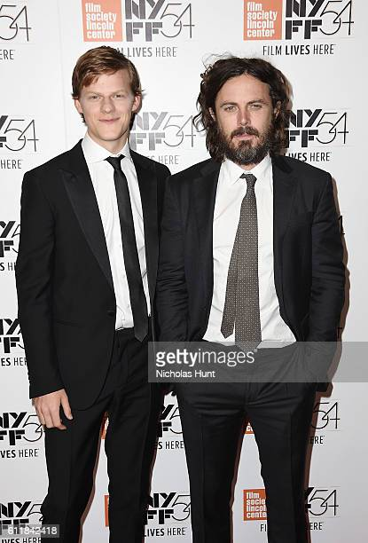 Lucas Hedges and Casey Affleck attend the 'Manchester by the Sea' world premiere during the 54th New York Film Festival at Alice Tully Hall at...