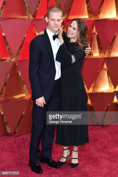 Lucas Hedges and Susan Bruce Titman attend the 89th Annual Academy Awards at Hollywood Highland Center on February 26 2017 in Hollywood California