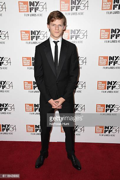 Lucas Hedges attends the 'Manchester by the Sea' world premiere during the 54th New York Film Festival at Alice Tully Hall at Lincoln Center on...