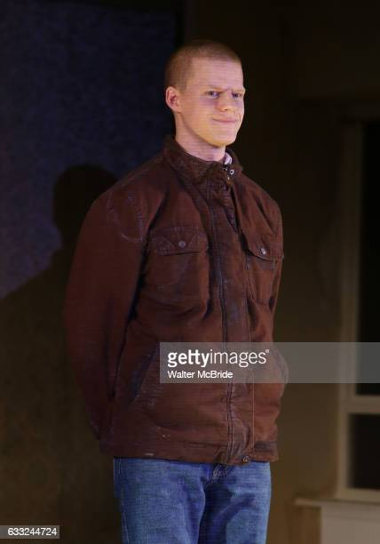 Lucas Hedges during the 'Yen' Opening Night Curtain Call bows at the Lortel Theatre on January 31 2017 in New York City