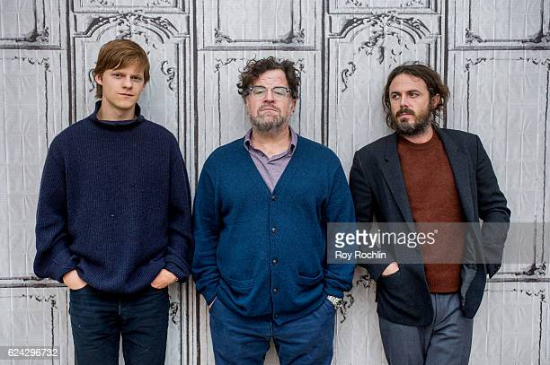 Lucas Hedges Kenneth Lonergan and Casey Affleck attend The Build Series presents the cast of 'Manchester by the Sea' at AOL HQ on November 18 2016 in...