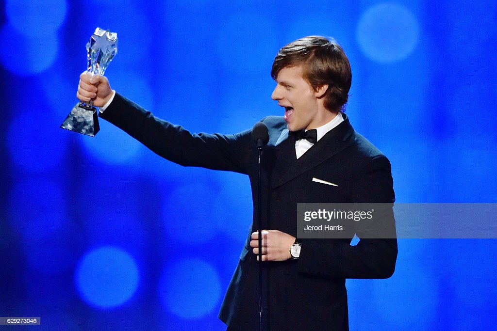 Lucas Hedges speaks onstage during the 22nd Annual Critics' Choice Awards at Barker Hangar on December 11, 2016 in Santa Monica, California.