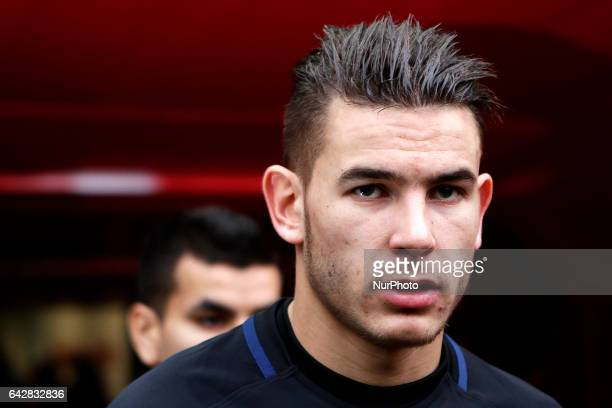 Lucas Hernandez defender of Atletico de Madrid during the La Liga Santander match between Sporting de Gijon and Atletico de Madrid at El Molinon...