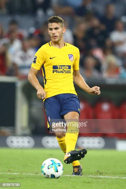 Lucas Hernandez of Atletico de Madrid during the Audi Cup 2017 match between Liverpool FC and Atletico Madrid at Allianz Arena on August 2 2017 in...