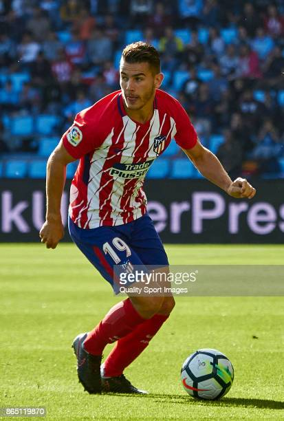 Lucas Hernandez of Atletico de Madrid in action during the La Liga match between Celta de Vigo and Atletico Madrid at Estadio Balaidos on October 22...