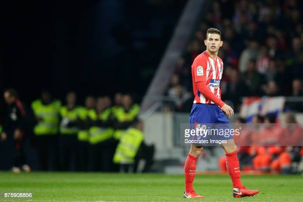 Lucas Hernandez of Atletico Madrid during the Spanish Primera Division match between Atletico Madrid v Real Madrid at the Estadio Wanda Metropolitano...