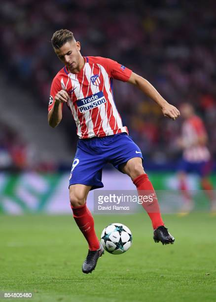 Lucas Hernandez of Atletico Madrid in action during the UEFA Champions League group C match between Atletico Madrid and Chelsea FC at Estadio Wanda...