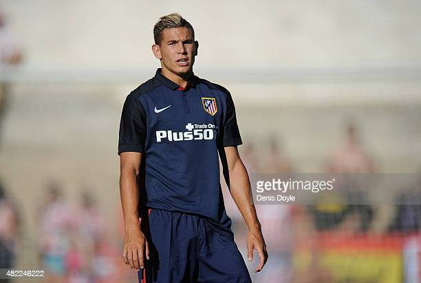 Lucas Hernandez of Club Atletico de Madrid looks on during the Jesus Gil y Gil Memorial preseason friendly match between Numancia and Club Atletico...
