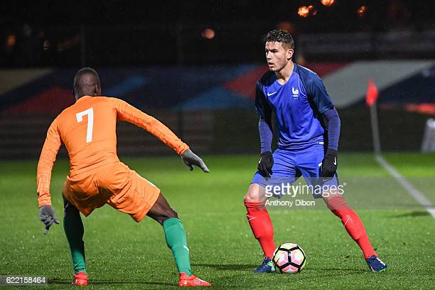 Lucas Hernandez of France during the International friendly match between France and Ivory Coast on November 10 2016 in Beauvais France