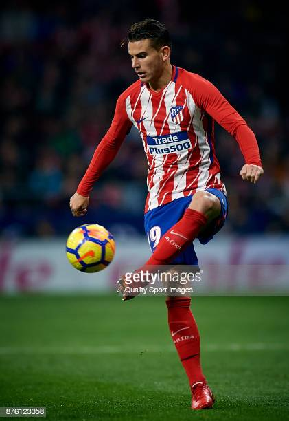 Lucas Hernandez Pi of Atletico Madrid in action during the La Liga match between Atletico Madrid and Real Madrid at Wanda Metropolitano Stadium on...