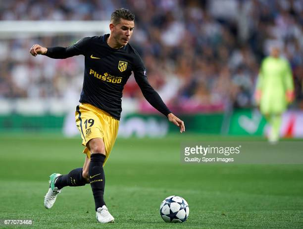 Lucas Hernandez Pi of Club Atletico de Madrid in action during the UEFA Champions League semifinal first leg match between Real Madrid CF and Club...