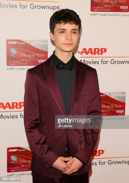 Lucas Jade Zumann attends the AARP's 16th Annual Movies For Grownups Awards on February 6 2017 in Beverly Hills California