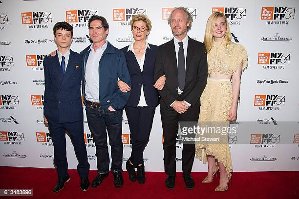 Lucas Jade Zumann Billy Crudup Annette Bening Mike Mills and Elle Fanning attend the '20th Century Women' premiere during the 54th New York Film...
