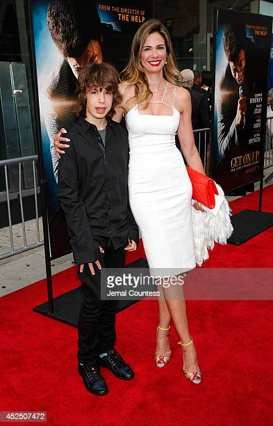Lucas Jagger and Luciana Gimenez attend the 'Get On Up' premiere at The Apollo Theater on July 21 2014 in New York City