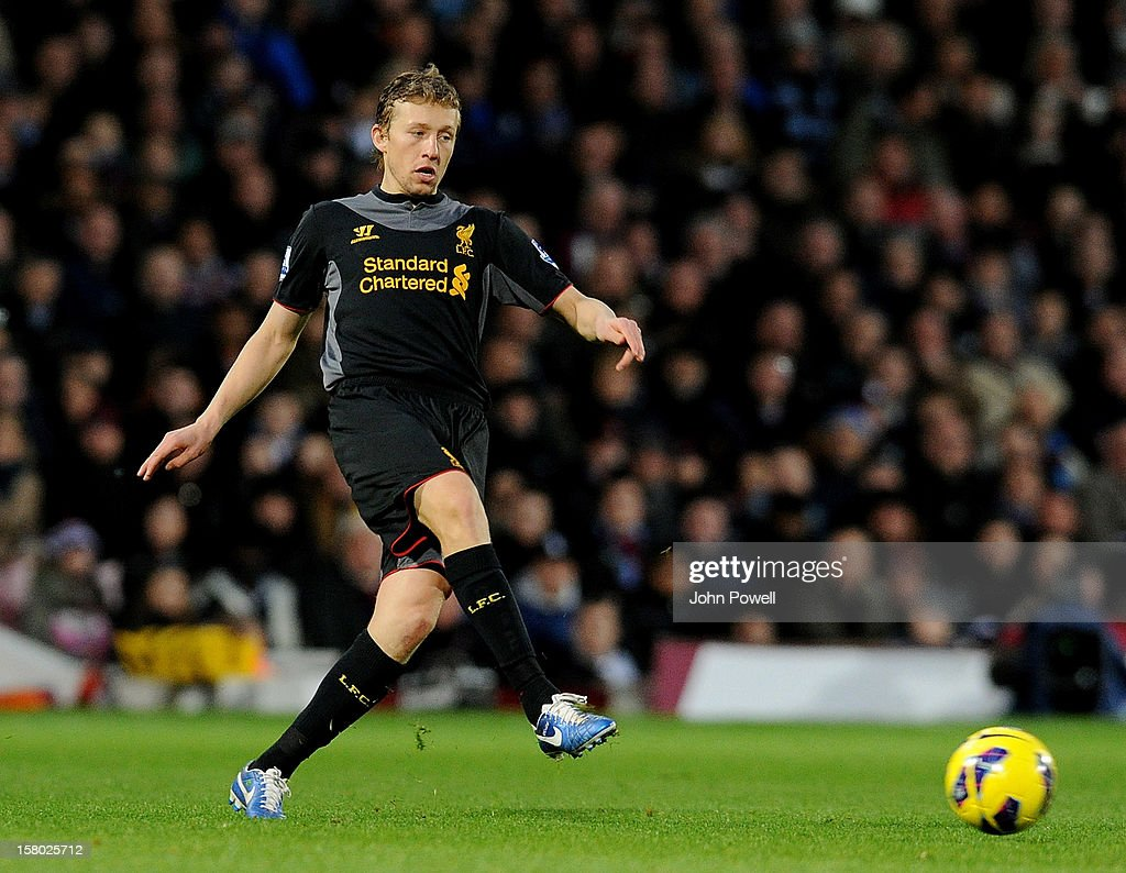 Lucas Leiva of Liverpool during the Barclays Premier League match between West Ham United and Liverpool at Boleyn Ground on December 9, 2012 in London, England.