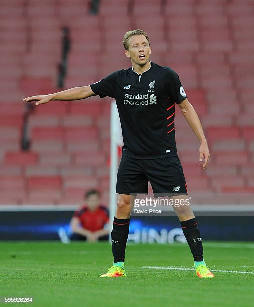 Lucas Leiva of Liverpool during the match between Arsenal U23 and Liverpool U23 at Emirates Stadium on August 26 2016 in London England