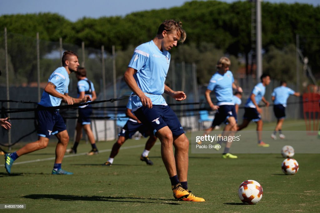 Lucas Leiva of SS Lazio in action during the SS Lazio training session on September 13, 2017 in Rome, Italy.