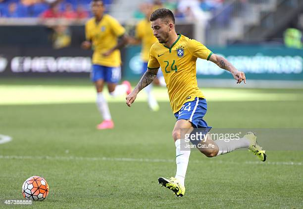 Lucas Lima of Brazil in action during the international friendly match between Brazil and Costa Rica at Red Bull Arena on September 5 2015 in...