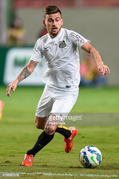 Lucas Lima of Santos a match between Atletico MG and Santos as part of Brasileirao Series A 2015 at Independencia Stadium on June 10 2015 in Belo...