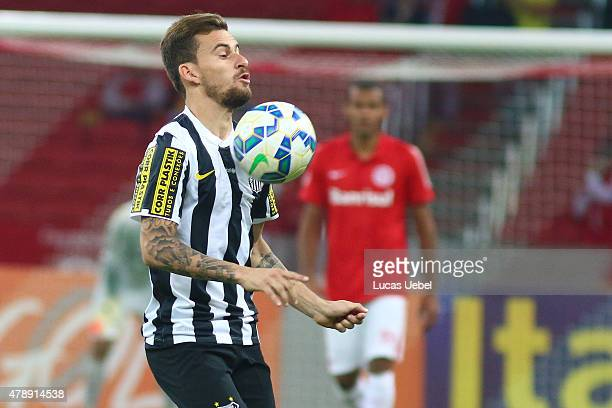 Lucas Lima of Santos during the match between Internacional and Santos as part of Brasileirao Series A 2015 at Estadio BeiraRio on June 28 in Porto...