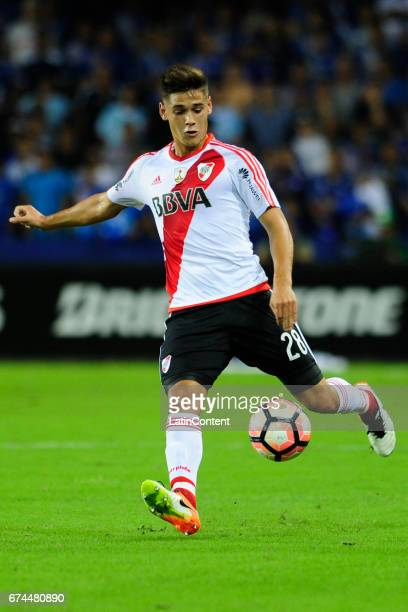 Lucas Martinez Quarta during a group stage match between Emelec and River Plate as part of Copa CONMEBOL Libertadores Bridgestone 2017 at George...