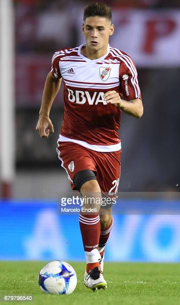 Lucas Martinez Quarta of River Plate drives the ball during a match between River Plate and Temperley as part of Torneo Primera Division 2016/17 at...