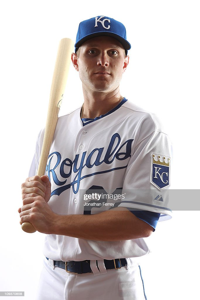 Lucas May #22 of the Kansas City Royals poses for a portrait during Spring Training Media Day on February 23, 2011 at Surprise Stadium in Surprise, Arizona..