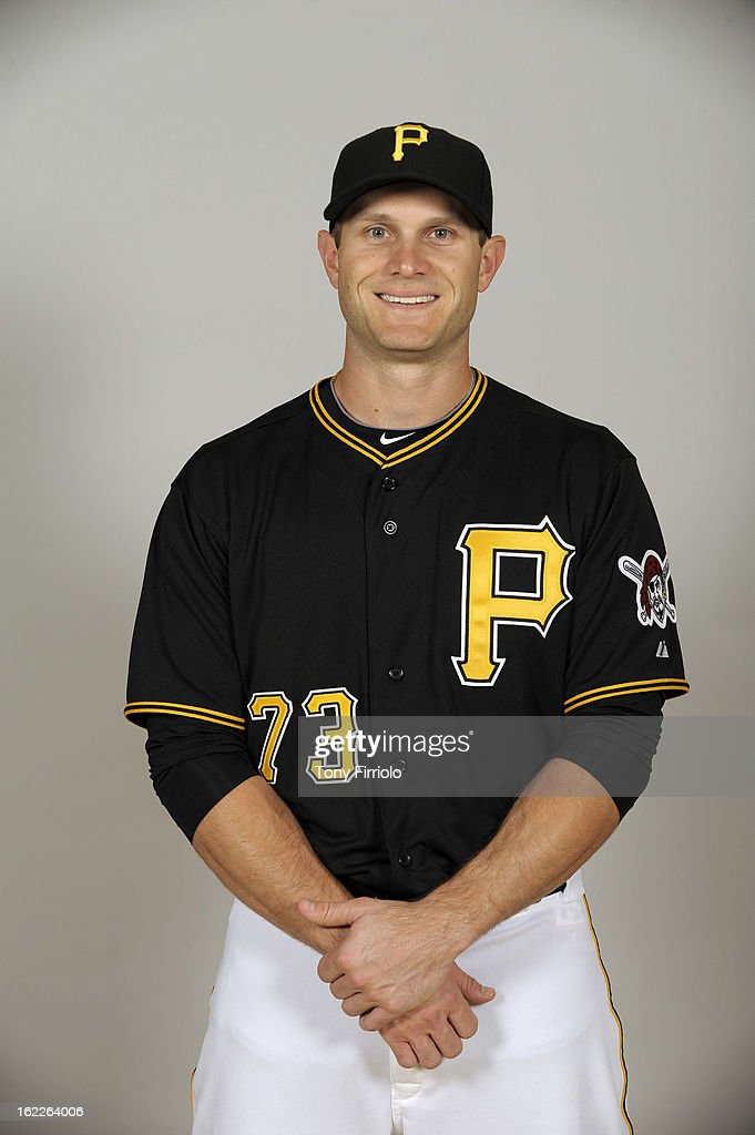 Lucas May #73 of the Pittsburgh Pirates poses during Photo Day on February 17, 2013 at McKechnie Field in Bradenton, Florida.