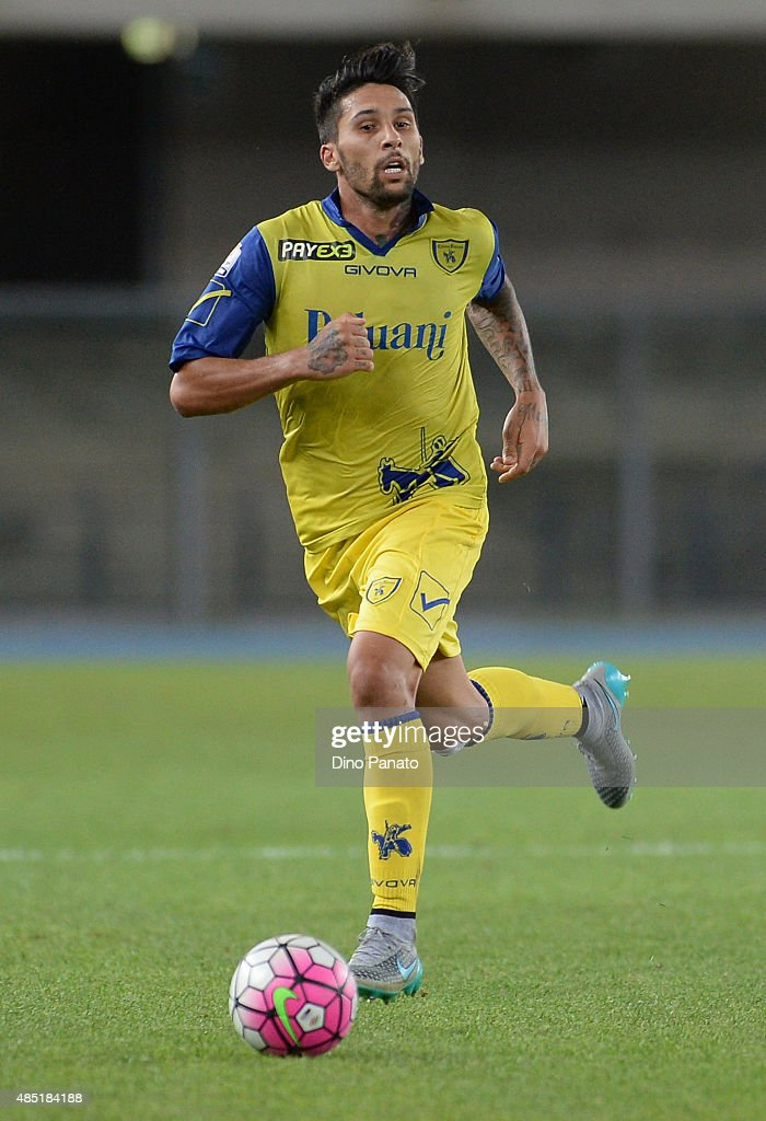 Lucas Nahuel Castro of AC Chievo Verona in action during the TIM Cup match between AC Chievo Verona and US Salernitana at Stadio Marc'Antonio...