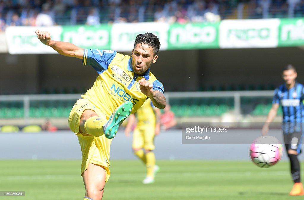Lucas Nahuel Castro of Chievo Veona during the Serie A match between AC Chievo Verona and FC Internazionale Milano at Stadio Marc'Antonio Bentegodi...