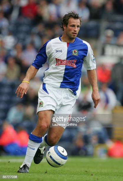 Lucas Neill of Blackburn Rovers in action during the Barclays Premiership match between Blackburn Rovers and Newcastle United on September 18 2005 at...