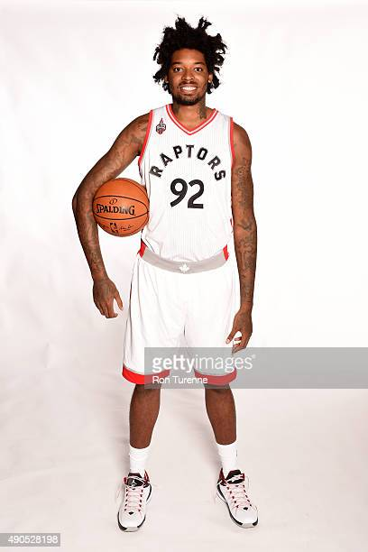 Lucas Nogueira of the Toronto Raptors poses for a photo during media day on September 28 at the Air Canada Centre in Toronto Ontario Canada NOTE TO...