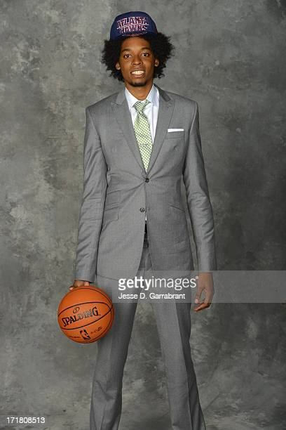 Lucas Nogueira poses for a portrait after being selected during the 2013 NBA Draft at the Barclays Center on June 27 2013 in Brooklyn New York NOTE...