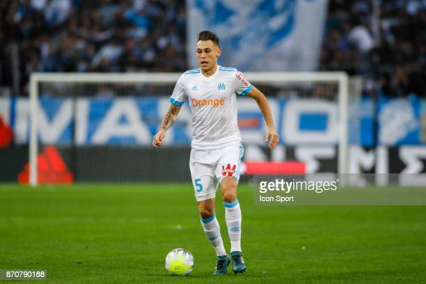 Lucas Ocampos of Marseille during the Ligue 1 match between Olympique Marseille and SM Caen at Stade Velodrome on November 5 2017 in Marseille