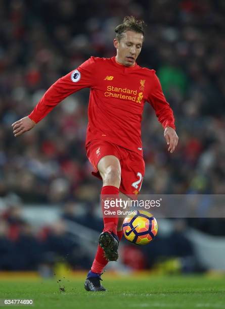 Lucas of Liverpool in action during the Premier League match between Liverpool and Tottenham Hotspur at Anfield on February 11 2017 in Liverpool...