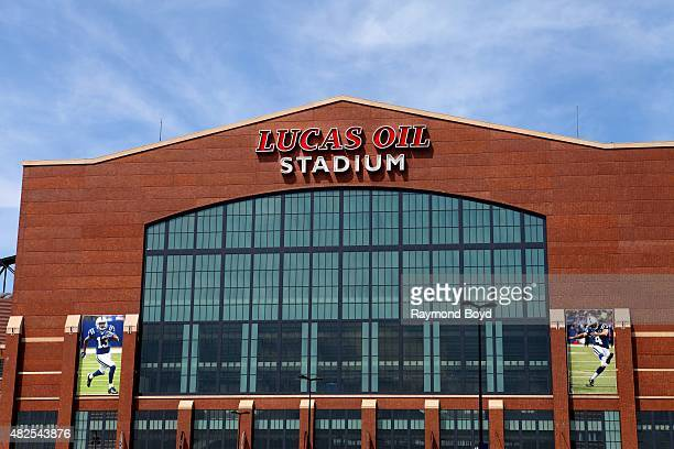Lucas Oil Stadium home of the Indianapolis Colts football team on July 16 2015 in Indianapolis Indiana