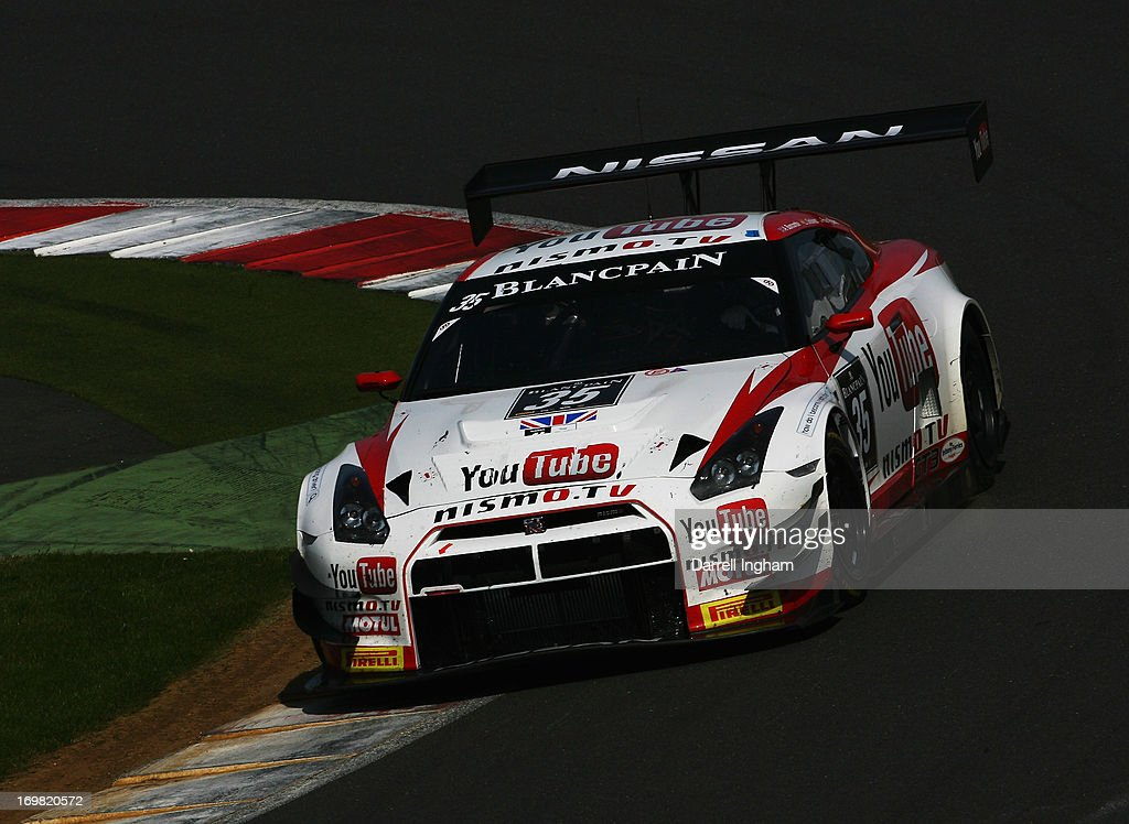 Lucas Ordonez of Spain drives the Nissan GT Academy Team RJN Nissan GTR Nismo GT3 during the Blancpain Endurance GT Series race at the Silverstone...