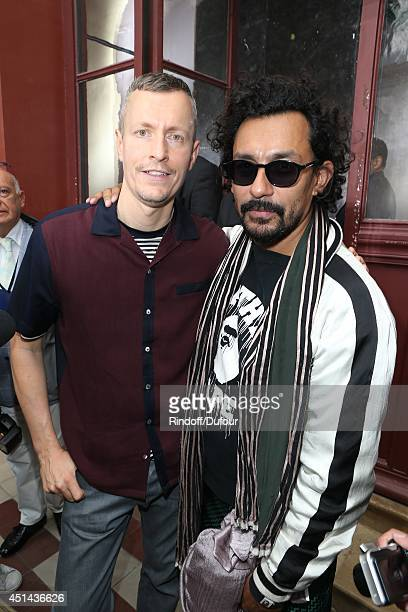 Lucas Ossendrijver and Haider Ackermann attend the Lanvin show as part of the Paris Fashion Week Menswear Spring/Summer 2015 on June 29 2014 in Paris...