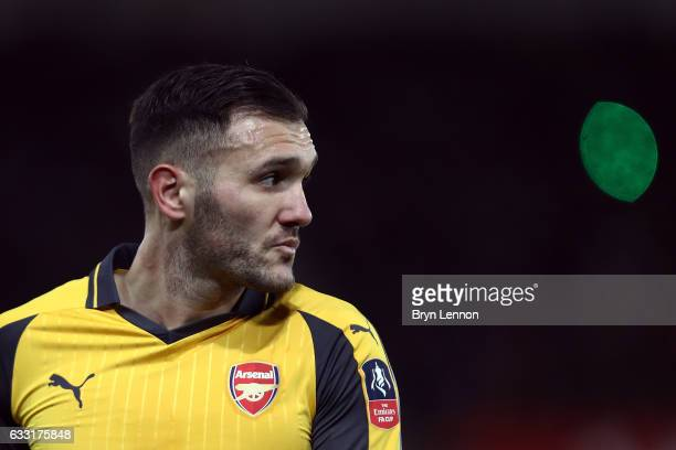 Lucas Perez of Arsenal looks on during the Emirates FA Cup Fourth Round match between Southampton and Arsenal at St Mary's Stadium on January 28 2017...