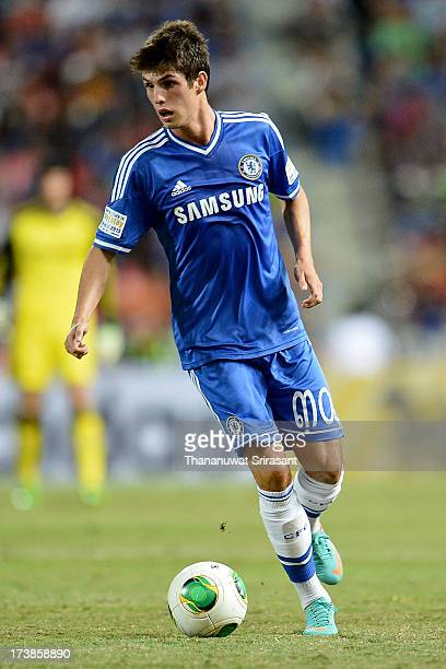 Lucas Piazon of Chelsea FC during the friendly match between Chelsea FC and the Singha Thailand AllStar XI Rajamangala Stadium on July 17 2013 in...