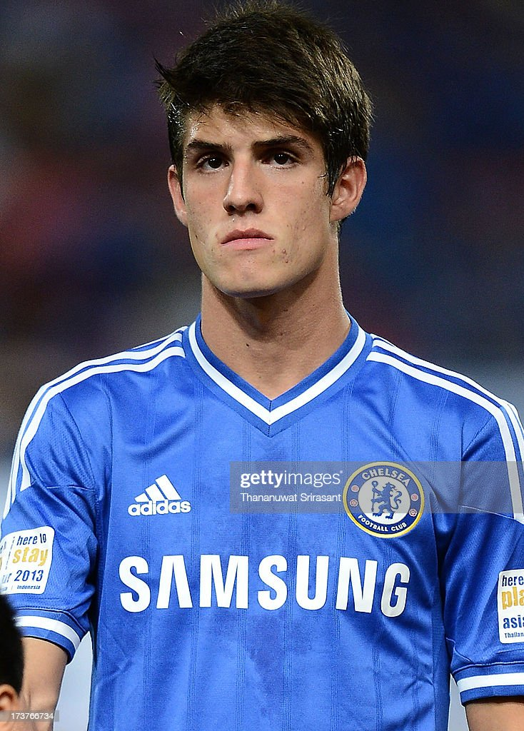 <a gi-track='captionPersonalityLinkClicked' href=/galleries/search?phrase=Lucas+Piazon&family=editorial&specificpeople=7598037 ng-click='$event.stopPropagation()'>Lucas Piazon</a> of Chelsea FC during the international friendly match between Chelsea FC and the Singha Thailand All-Star XI Rajamangala Stadium on July 17, 2013 in Bangkok, Thailand.
