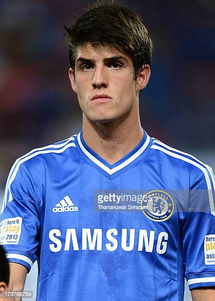 Lucas Piazon of Chelsea FC during the international friendly match between Chelsea FC and the Singha Thailand AllStar XI Rajamangala Stadium on July...