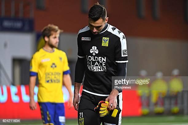 Lucas Pirard goalkeeper of STVV during the Jupiler Pro League match between K SintTruidense VV and SV Zulte Waregem on November 18 2016 in...