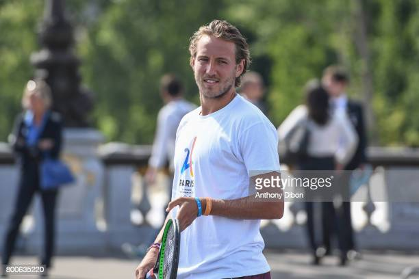 Lucas Pouille during the Olympic Day Paris Olympic Park comes to life for Olympic Day on June 24 2017 in Paris France