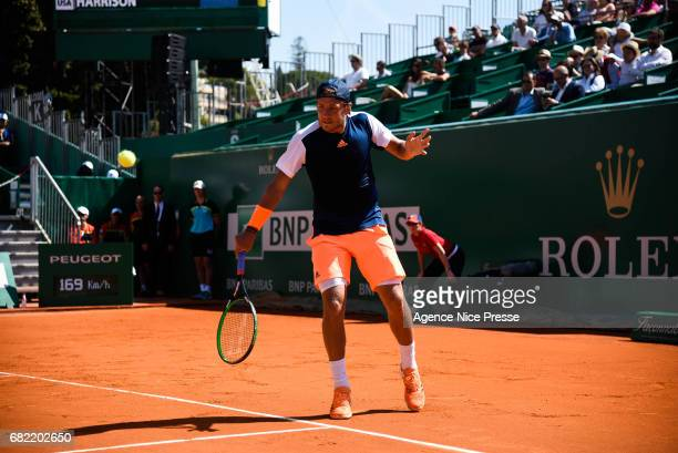 Lucas Pouille of France during the Monte Carlo Rolex Masters 2017 on April 18 2017 in Monaco Monaco