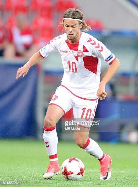 Lucas Qvistorff Andersen during the UEFA European Under21 match between Czech Republic and Denmark at Arena Tychy on June 24 2017 in Tychy Poland