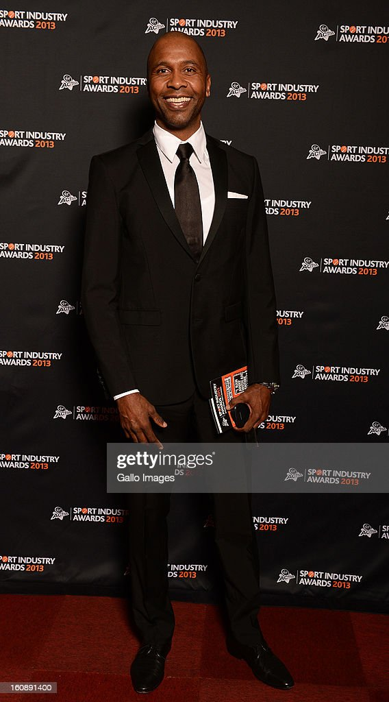 Lucas Radebe attends the Virgin Active Sport Industry Awards 2013 held at Emperors Palace on February 07, 2013 in Johannesburg, South Africa.