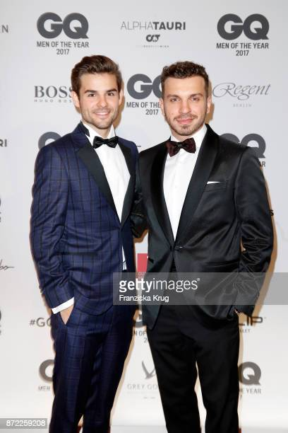 Lucas Reiber and Edin Hasanovic arrive for the GQ Men of the year Award 2017 at Komische Oper on November 9 2017 in Berlin Germany